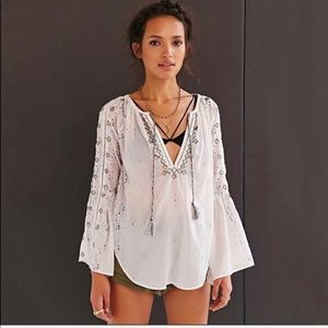 Urban Outfitters Tops - Urban Outfitters Ecote Top Bell Sleeve Embroidered